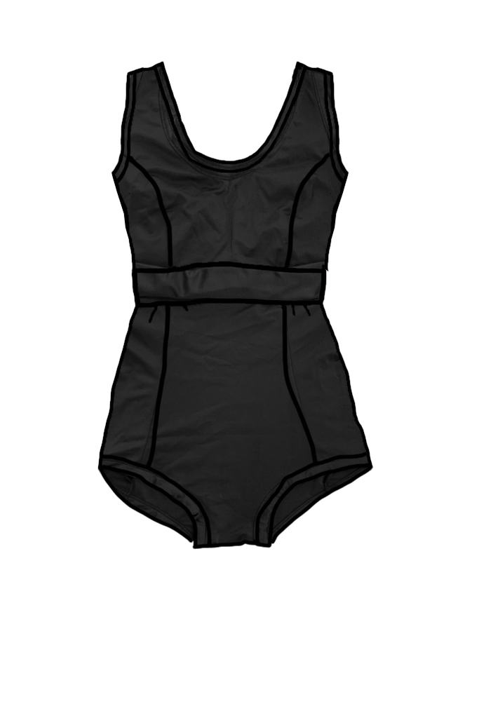One Piece Swimsuit Black - limited sizes