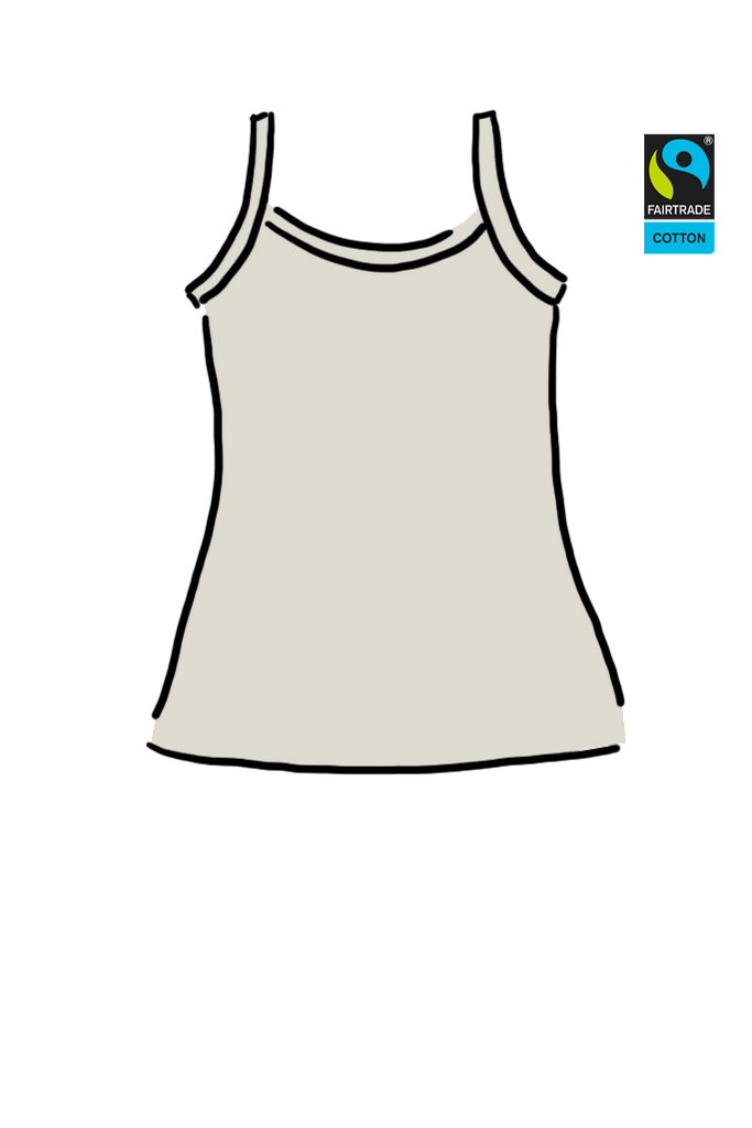 Womens Cami Plain Vanilla