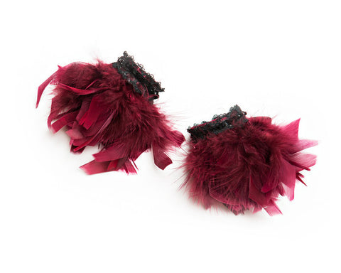 Crimson Beauty Cuffs