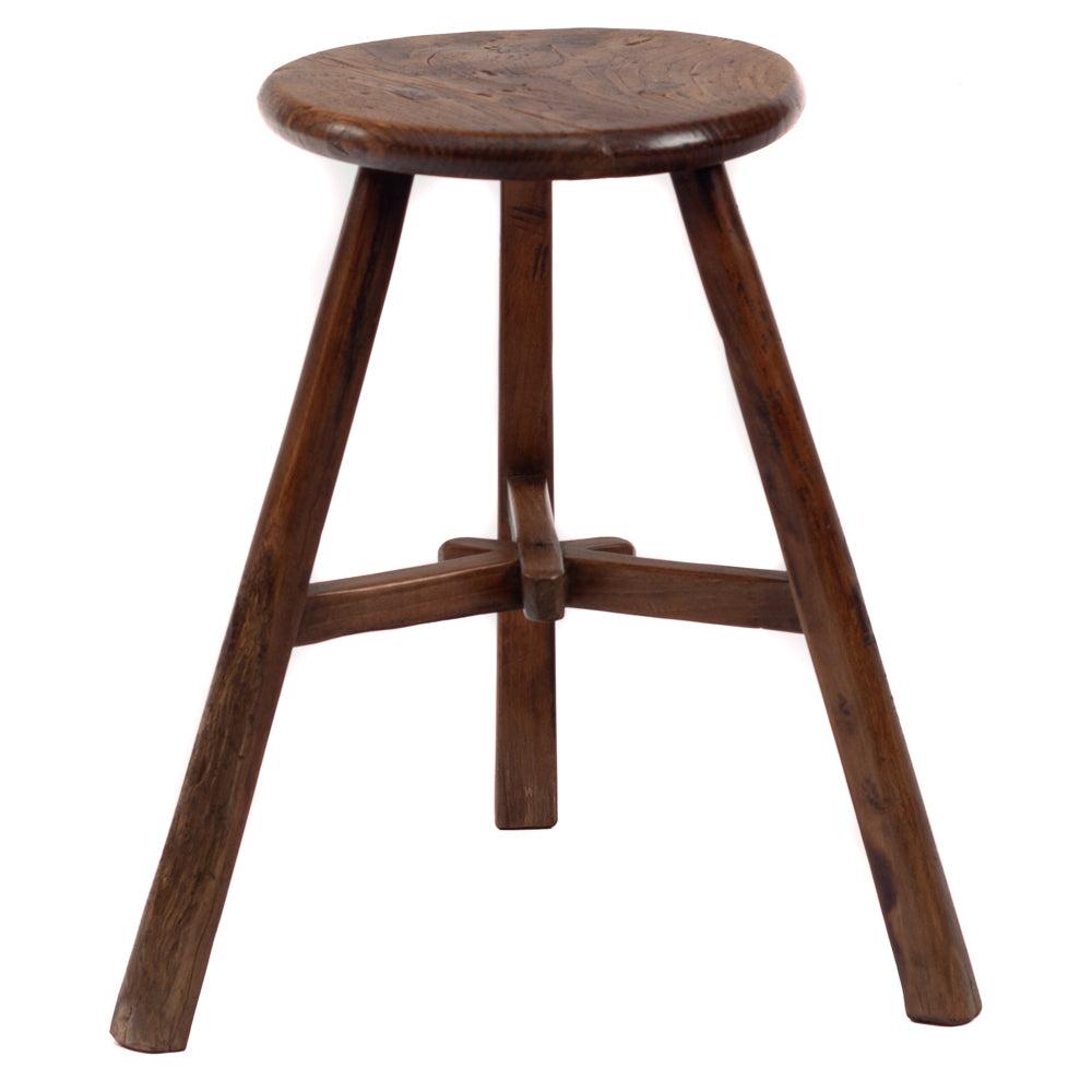 Round stool with overlapping star joint