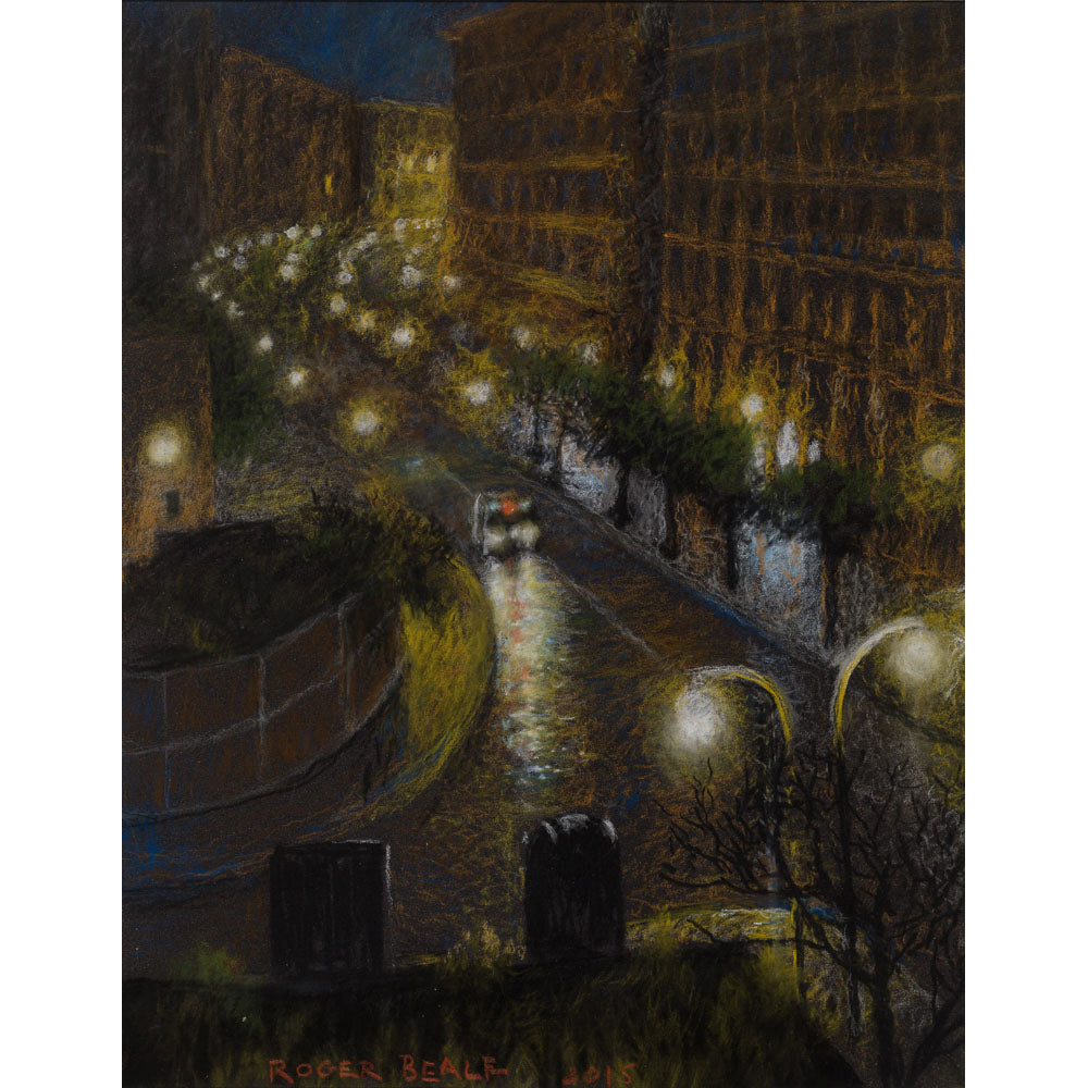 Naples night road by Roger Beale