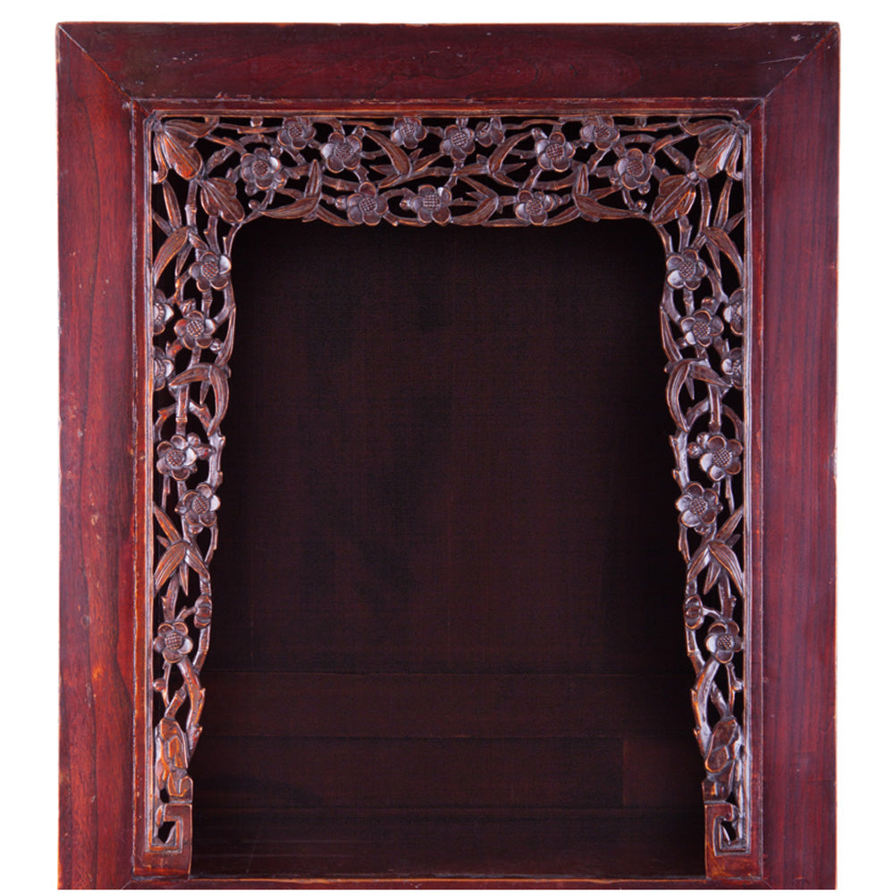 carved display cabinet
