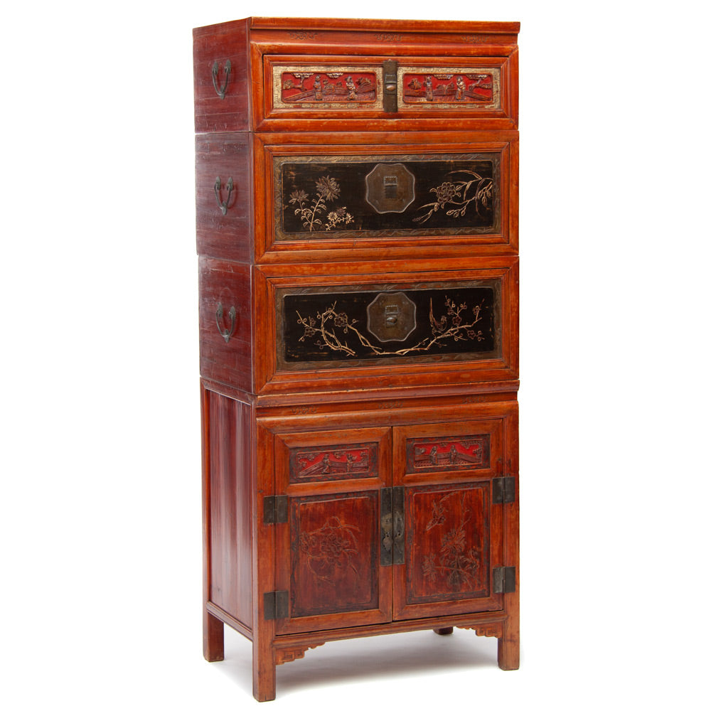 Wedding chests and cabinet set