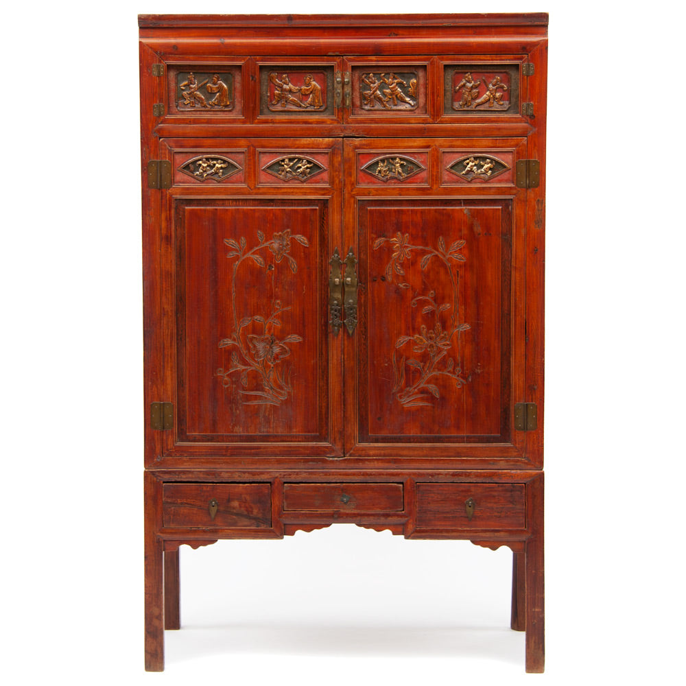 Two section linen cabinet