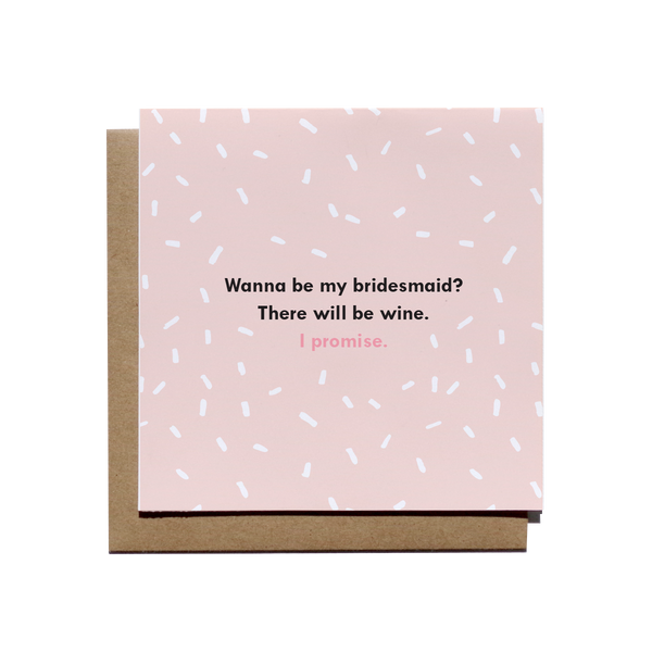 Bridesmaids and Wine Card