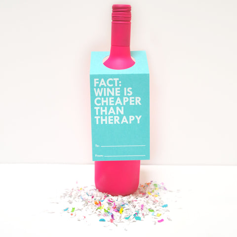 Therapy Wine Bottle Tag