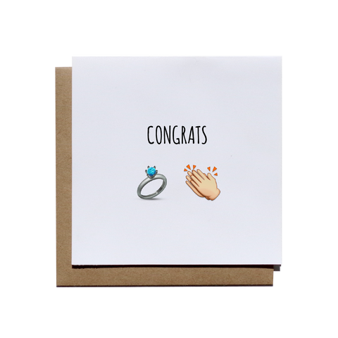 Congrats Emoji Engagement Greeting Card