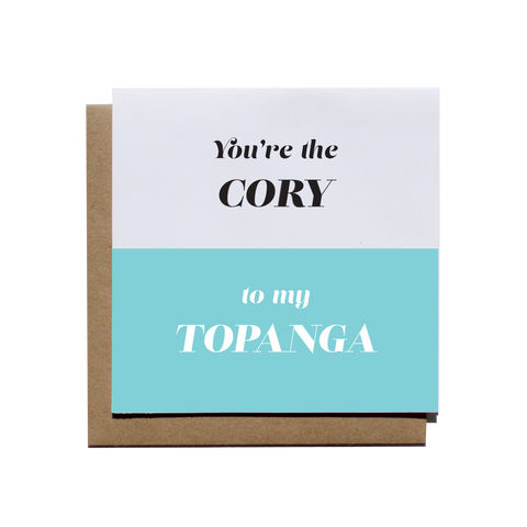 Cory to My Topanga - Dynamic Duo Card