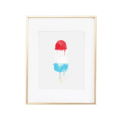 Firecracker Popsicle Watercolor Art Print