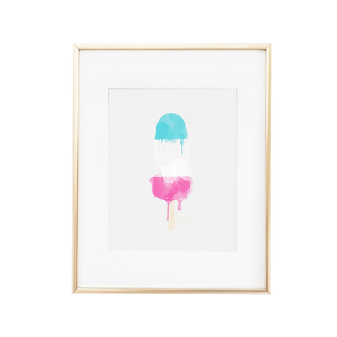 Candy Colored Popsicle Watercolor Art Print