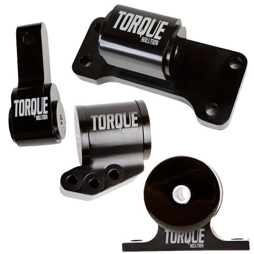 Torque Solution Billet Aluminum 4 Piece Full Engine Mount Kit (evo 8/9)