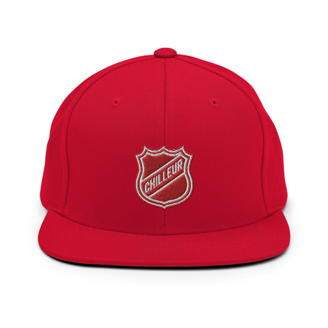 Chilleur NCL(National Chilleur League) Snapback (Red)