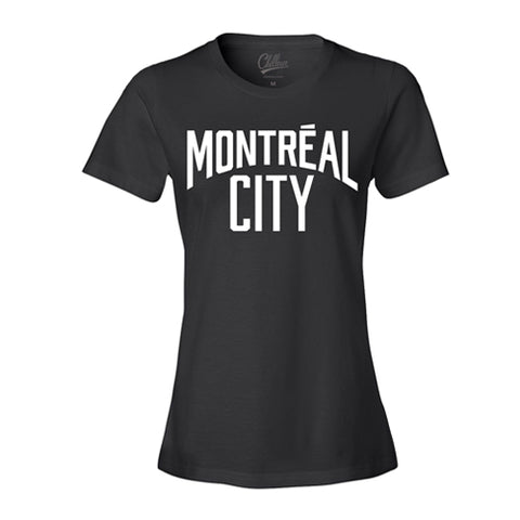 Chilleuse - Montreal City - T-Shirt (Noir/Blanc)