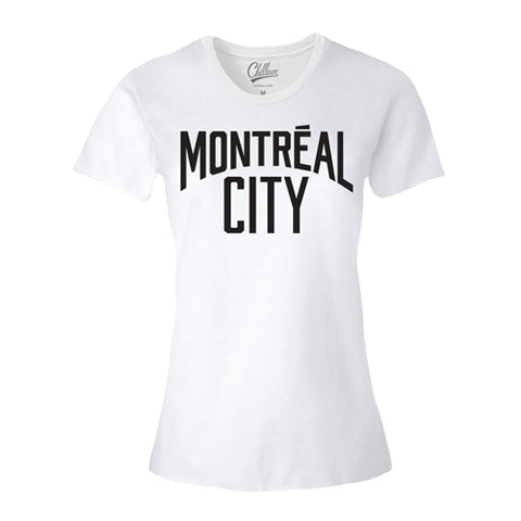 Chilleuse - Montreal City - T-Shirt (Blanc/Noir)