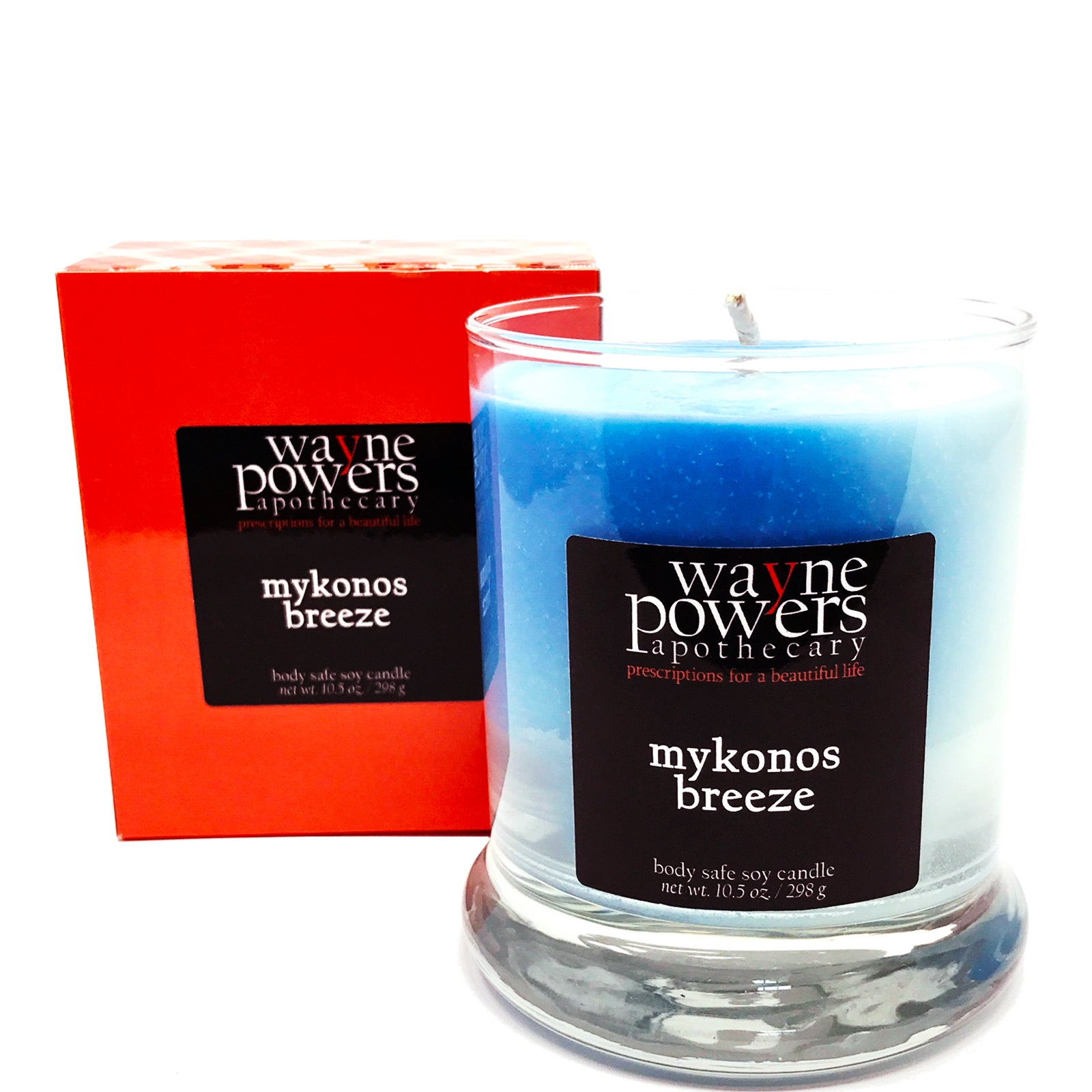 Mykonos Breeze Body Safe Soy Candle by Wayne Powers Apothecary