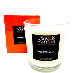 Tomato Vine Body Safe Soy Candle by Wayne Powers Apothecary