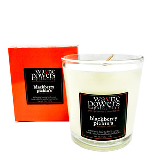 Blackberry Pickin's Body Safe Soy Candle by Wayne Powers Apothecary