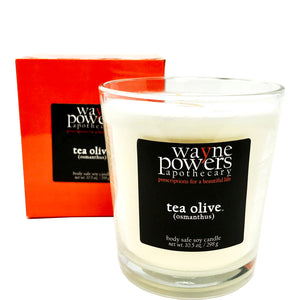 Tea Olive (Osmanthus) Body Safe Soy Candle by Wayne Powers Apothecary