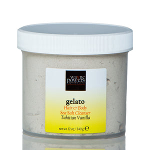 Gelato Tahitian Vanilla Hair & Body Sea Salt Cleanser by Wayne Powers Apothecary
