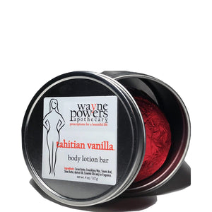 Tahitian Vanilla Body Lotion Bar by Wayne Powers Apothecary