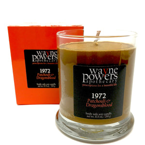 1972 Patchouli & Dragonsblood Body Safe Soy Candle by Wayne Powers Apothecary