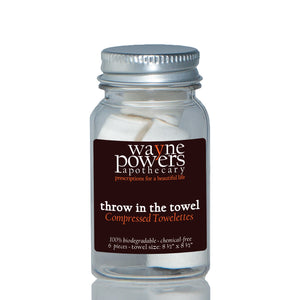 Throw In The Towel Compressed Towelettes by Wayne Powers Apothecary