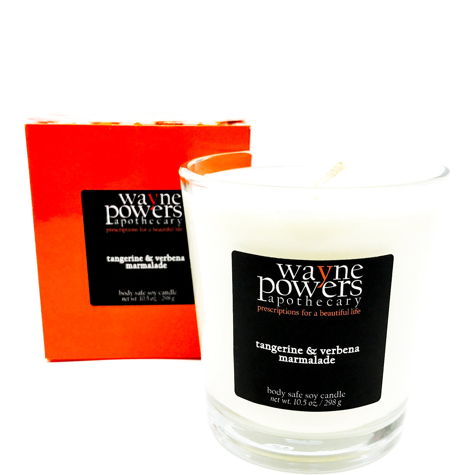 Tangerine & Verbena Body Safe Soy Candle by Wayne Powers Apothecary