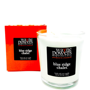 Blue Ridge Chalet Body Safe Soy Candle by Wayne Powers Apothecary