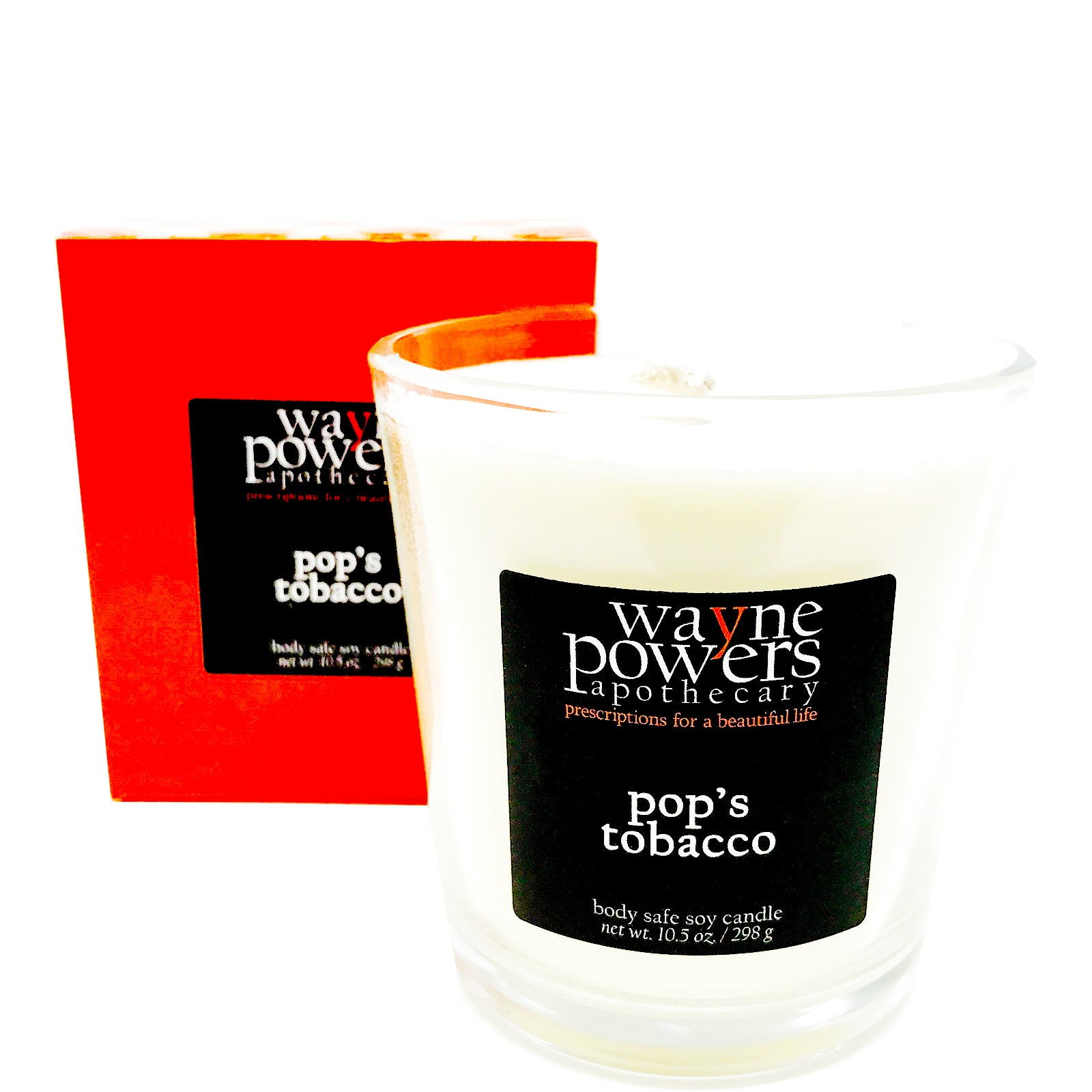 Pop's Tobacco Body Safe Soy Candle by Wayne Powers Apothecary