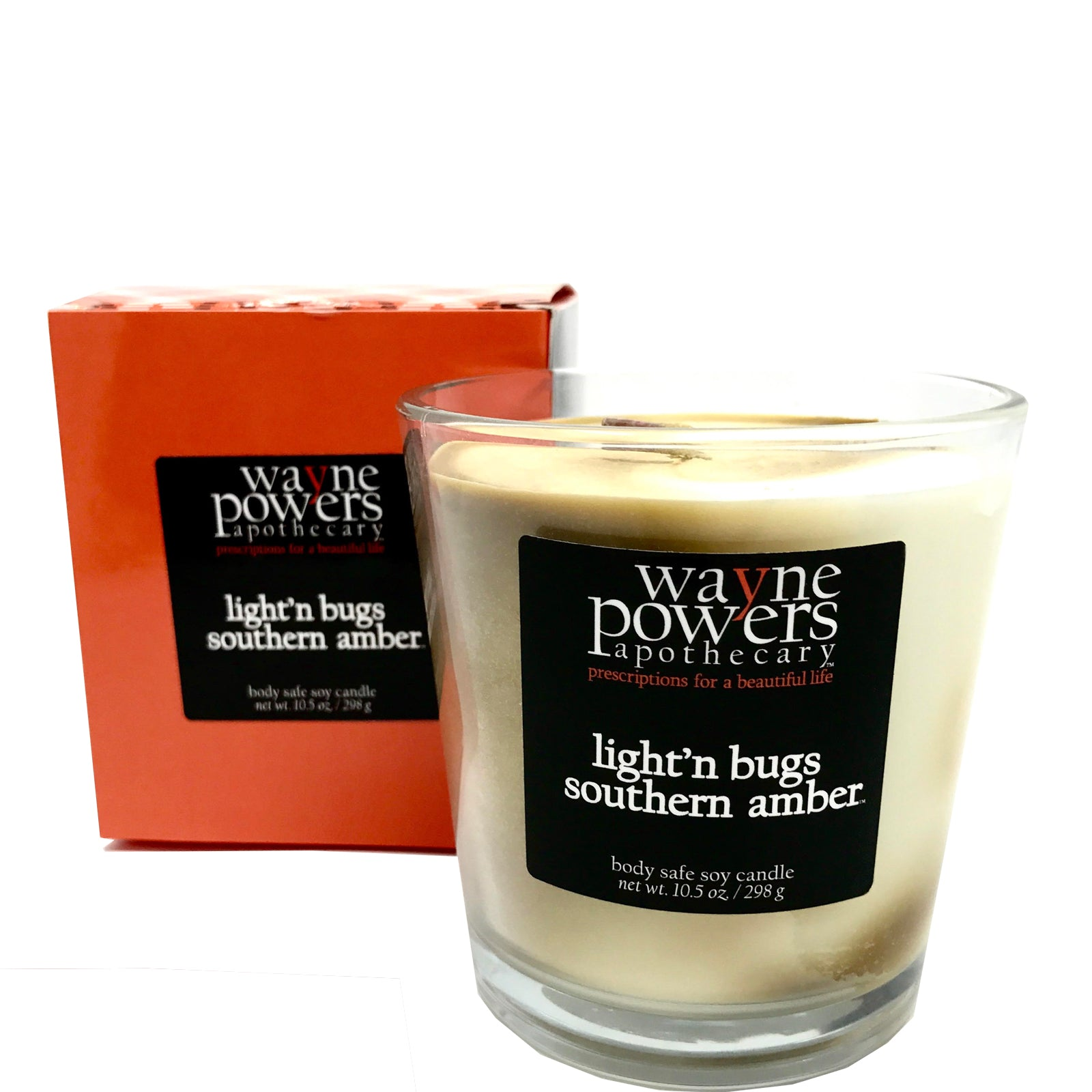 Light'n Bugs Southern Amber Body Safe Soy Candle by Wayne Powers Apothecary