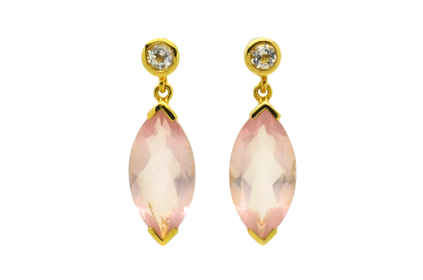 Barbara Rose Quartz Earrings