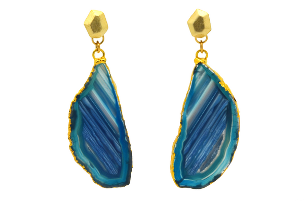 Irene Blue Agate Earrings