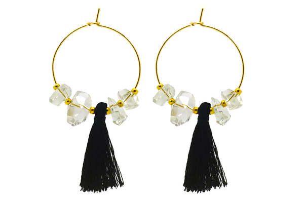 Chloe Quartz Tassel Earrings