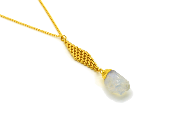 Nadia Cream Citrine Necklace