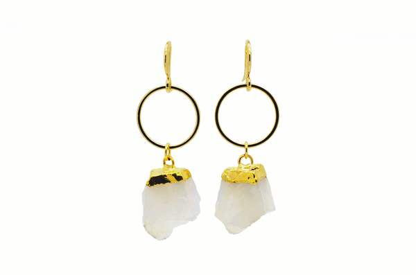Cream Citrine Earrings