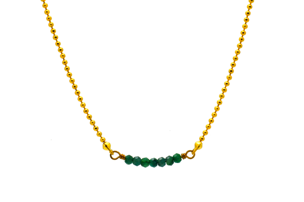 Dainty Emerald Necklace