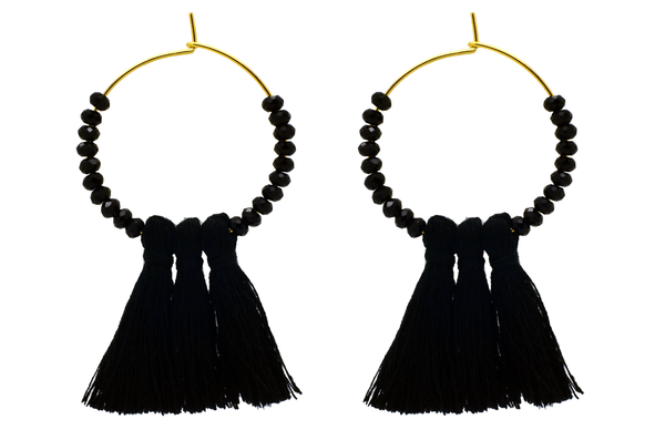 Daisy Agate Tassel Earrings