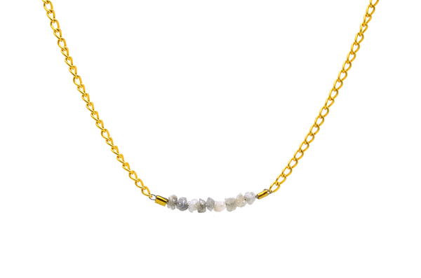 Dainty Raw Diamond Necklace
