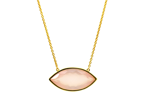 Germaine Rose Quartz Necklace