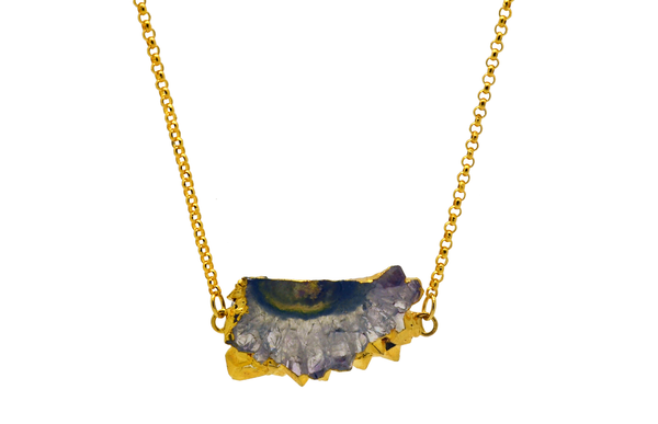 Fiona Amethyst Stalactite Necklace