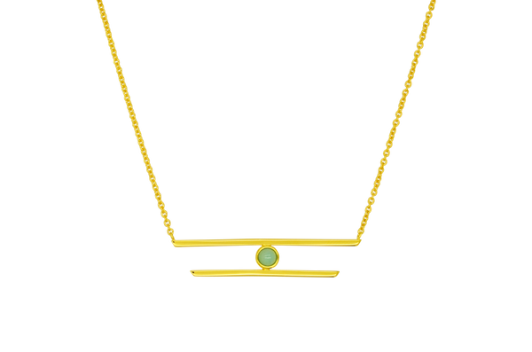 Grace Aqua Chalcedony Necklace