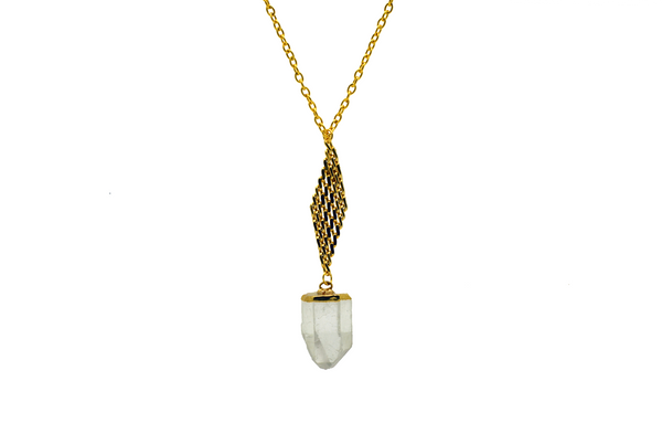 Zara Lemurian Quartz Necklace