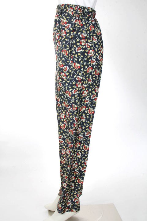 ISABEL MARANT BLACK/RED 'ROYA' PANTS