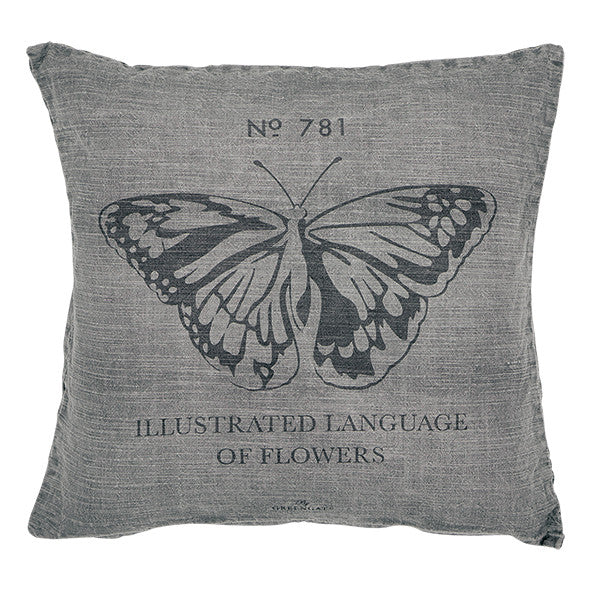 Cushion cover Butterfly warm grey
