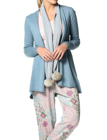 Cotton Cashmere Wrap - Dream Blue