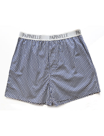Mens Boxers - Navy Spot