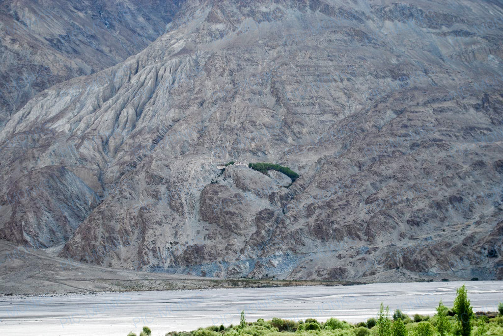 Remote Monastery Off The Nubra Valley