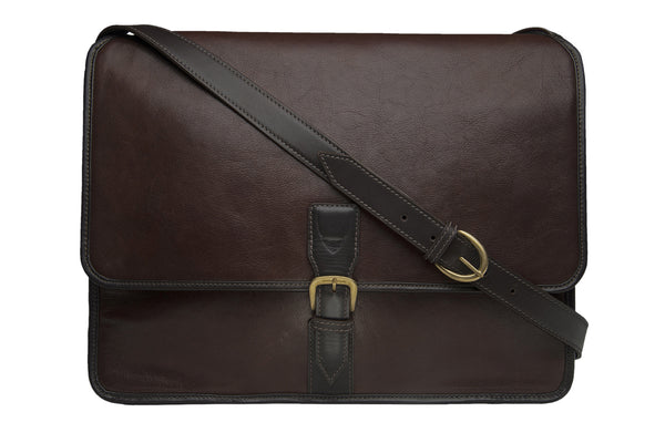 Harrison Buffalo Leather Laptop Messenger