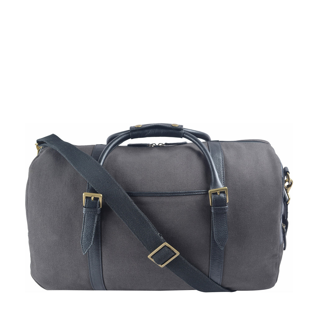 Charles Canvas & Leather Cabin Travel Duffle Weekend Bag