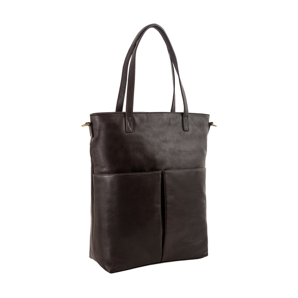 Pepper Large Leather Tote with Sling Strap
